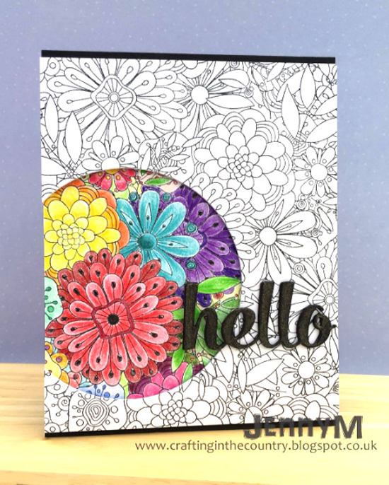 Bundles of Blossoms Background stamp, Hello There Die-namics - Jenny Mullens #mftstamps