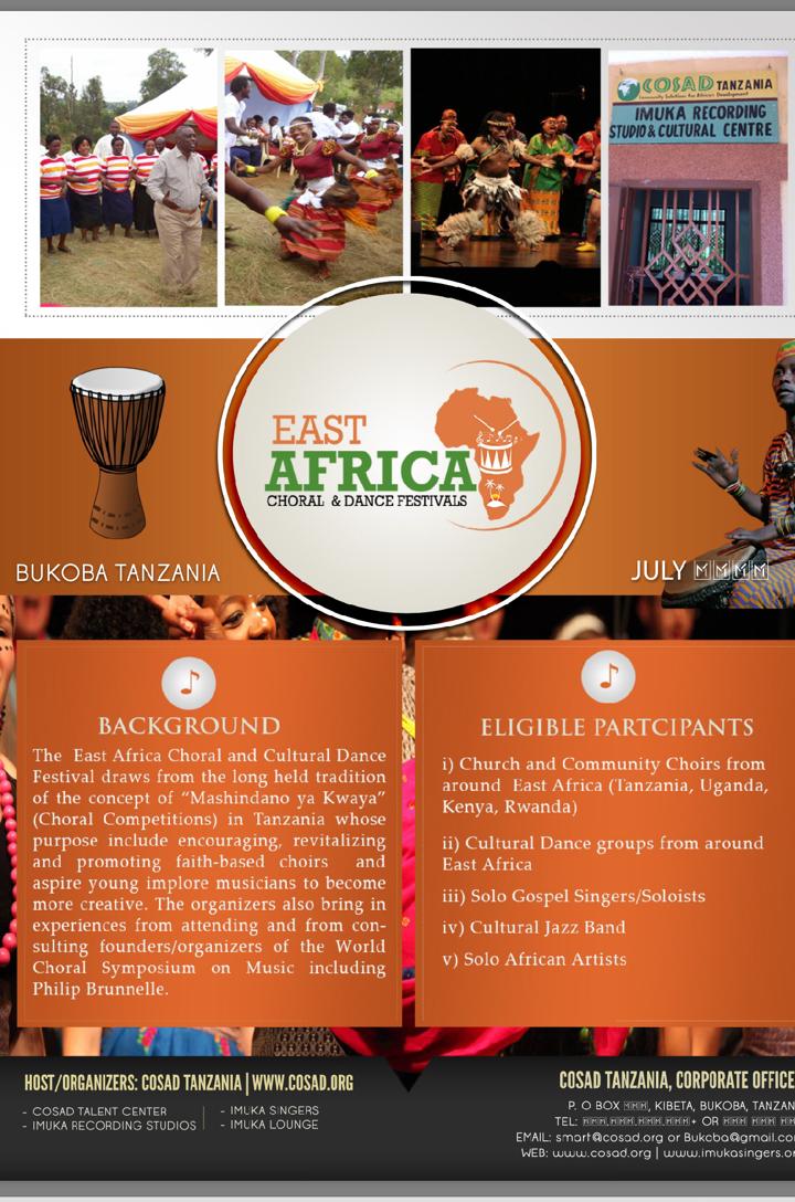 EAST AFRICA CHORAL AND CULTURAL DANCE FESTIVALS:BUKOBA | BUKOBA WADAU
