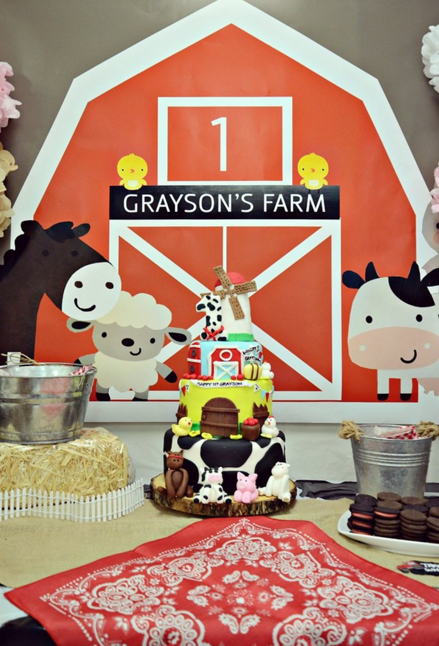 Barnyard Themed First Birthday Party Everything Home