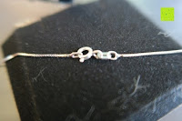 Verschluss: Kunstvolles Silber Halskette mit Kolibri Anhänger