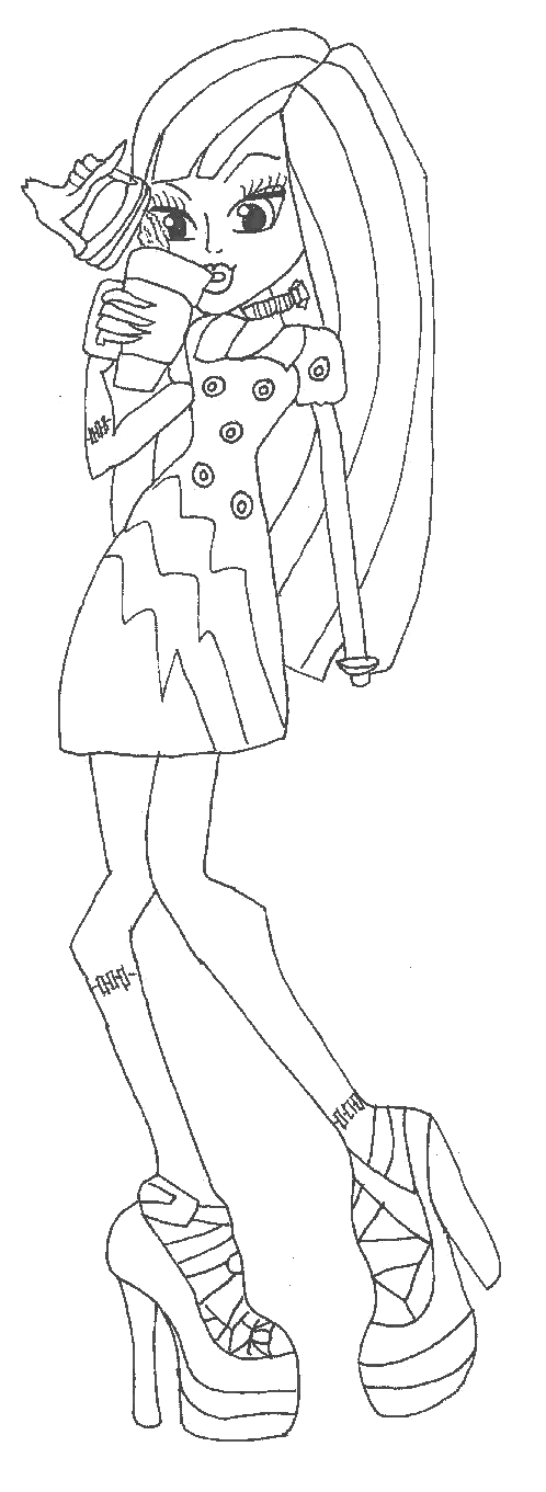 Free Printable Monster High Coloring Pages: Frankie Stein