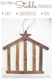 How to Make a Stable Ornament - Nativity Ornament