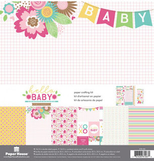 Paper House Productions Baby Girl Paper Crafting Kit