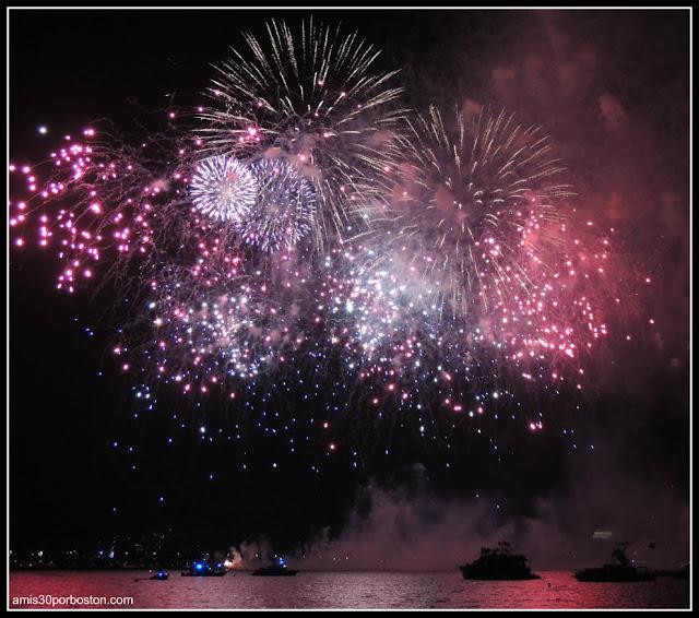 Fuegos Artificiales durante la Celebración del 4 de Julio
