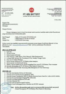 PT. GS Battery karawang