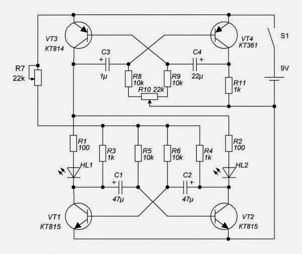led flasher type of police circuit diagram