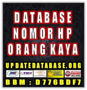 Jual Database Nomor HP Orang - Orang Kaya