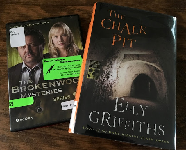 Elly Griffiths novel The Chalk Pit, and The Brokenwood Mysteries DVD