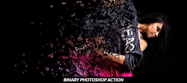 Binary Photoshop Action