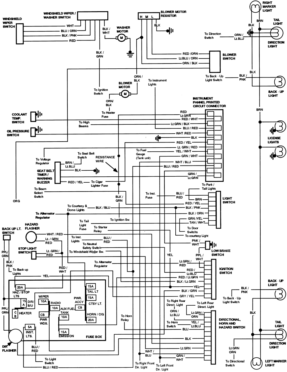 1984 Ford Bronco Instrument Panel Wiring Diagram | All