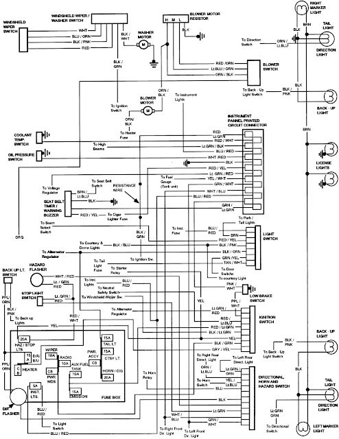 diagram on wiring 1984 ford bronco instrument panel wiring