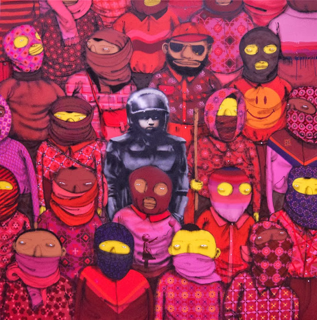 Banksy's New Pieces In New York City With Os Gemeos For Better Out Than In. Day 18 5