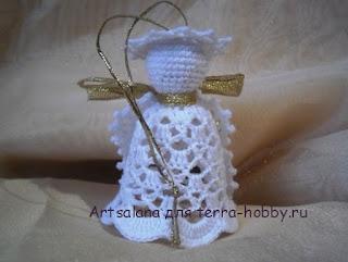 Рождественский ангел крючком