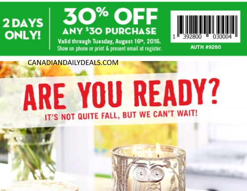 Bath & Body Works 30% Off Coupon