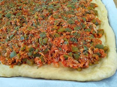 COCA DE TOMATE EN PANIFICADORA receta tradicional de Alcoy la cocinera novata receta cocina horno valencia masa vegetariana casera