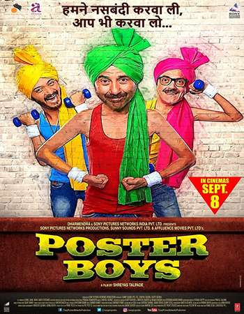 Poster Boys 2017 Full Hindi Movie DVDRip Free Download