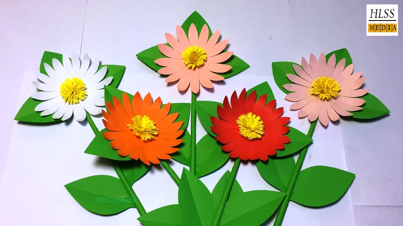 How to make daisy paper flower diy paper flower making tutorials how to make daisy paper flower diy paper flower making tutorials origami paper crafts mightylinksfo