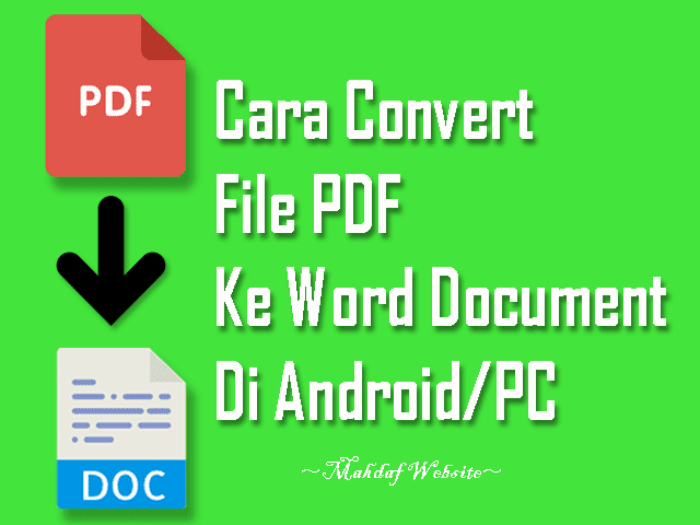 cara convert file pdf ke word cara mengubah pdf ke word