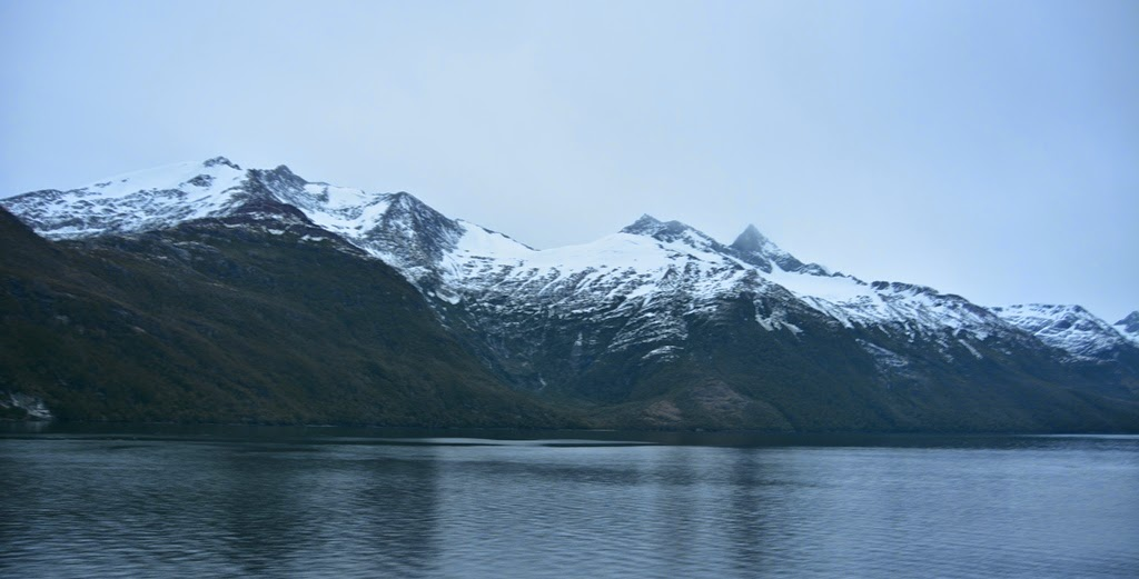 Chilean Fjords snowy mountains