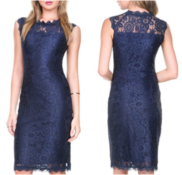 Navy Sheath Dress - Affordable Style