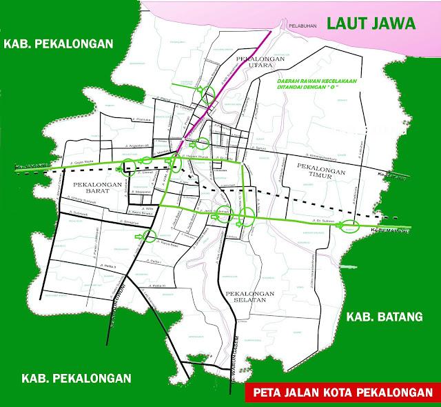Gambar Peta Jalan Kota Pekalongan