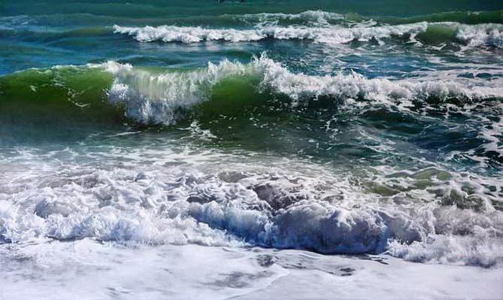 Cuadros modernos pinturas de olas marinas for Cuadros de marinas