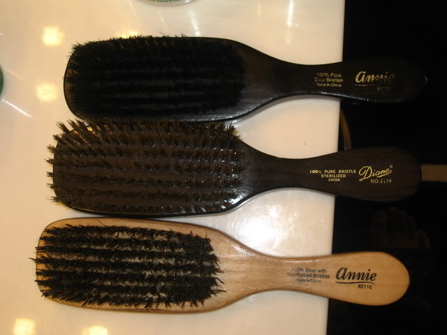 Two Annie brushes and one Diane brush