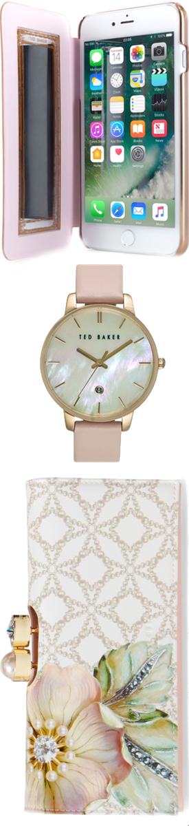 TED BAKER LONDON Gem Gardens Matinée Wallet, Watch, and Kadia iPhone 6/7 Plus Case