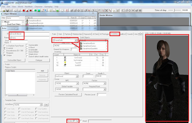 TES 5 Stuff: ECE Character to create NPC/Follower tutorial