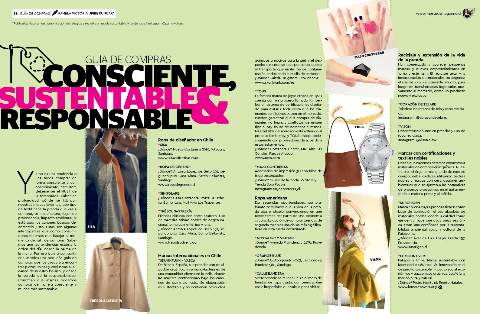 Guía de compras de marcas sustentables de moda en chile - pamela victoria experta en moda sustentable en chile