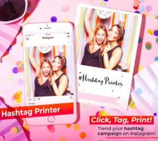 Instagram hashtag printer