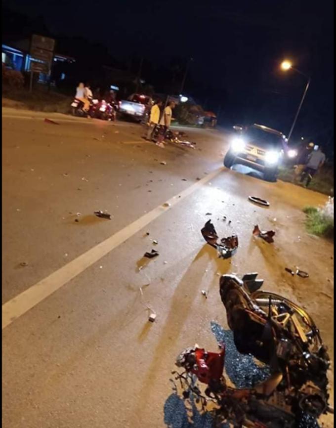 กระบี่สลดรถจักรยานยนต์ชนรถจักรยานยนต์เสียชีวิต 2 ราย