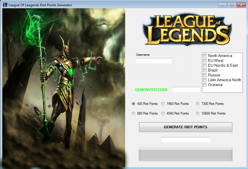 generatorprint - Free League of Legends Riot Points Generator