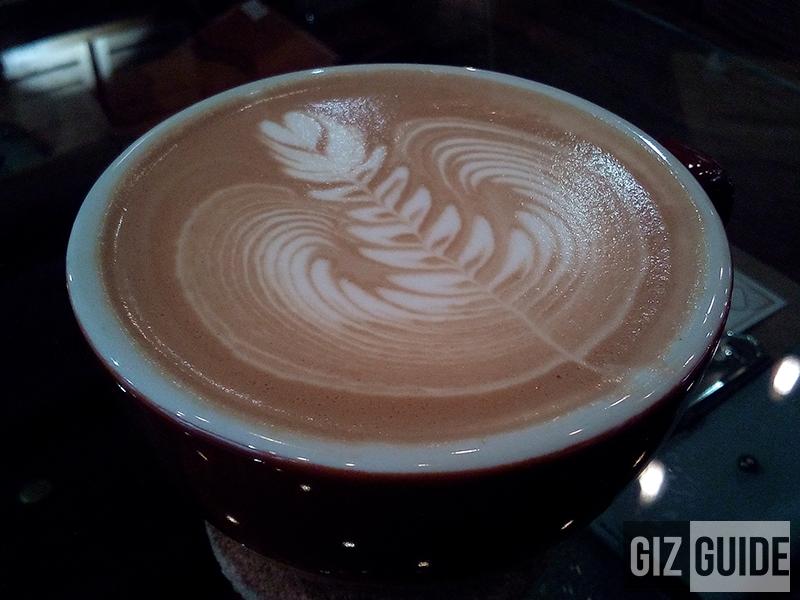 Close-up coffee shop in dim light