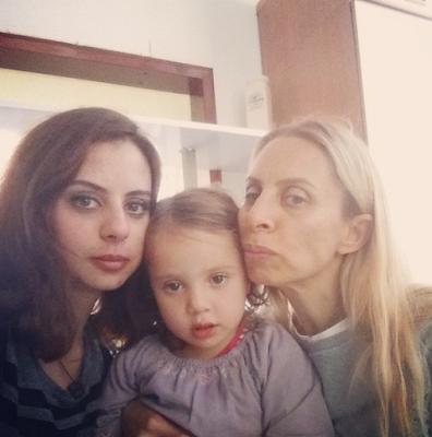Zeynep Casalini ve kızı Angela Ceren Casalini Sarp