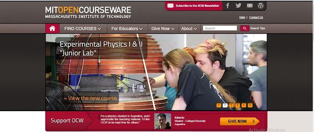 موقع MIT open courseware لتعلم البرمجة