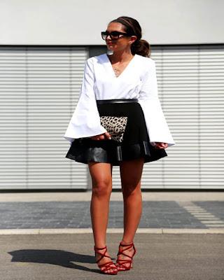 outfit para el trabajo con falda casual tumblr de moda