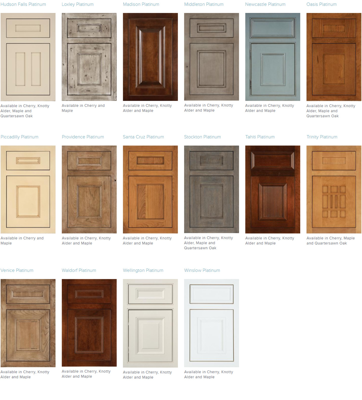 Medallion Inset Door Styles
