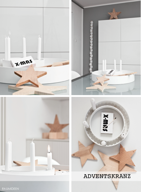 raumideen weihnachtsdeko ein schlichter adventskranz. Black Bedroom Furniture Sets. Home Design Ideas