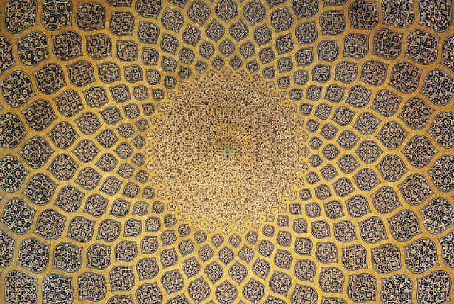 Image Attribute: Ceiling murals of Sheikh Lotfollah Mosque, Isfahan, Iran Source: Wikimedia Commons
