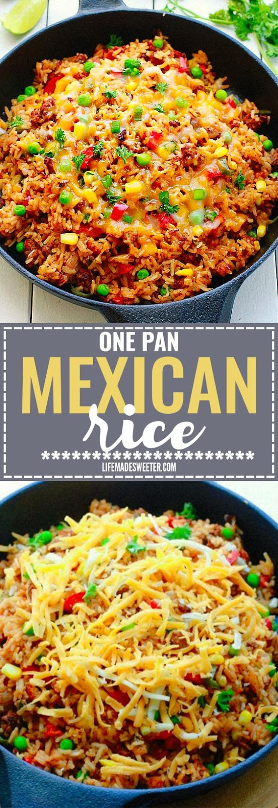 {One Pan} Mexican Rice Skillet #maincoourse #mexican #rice #skillet #onepan