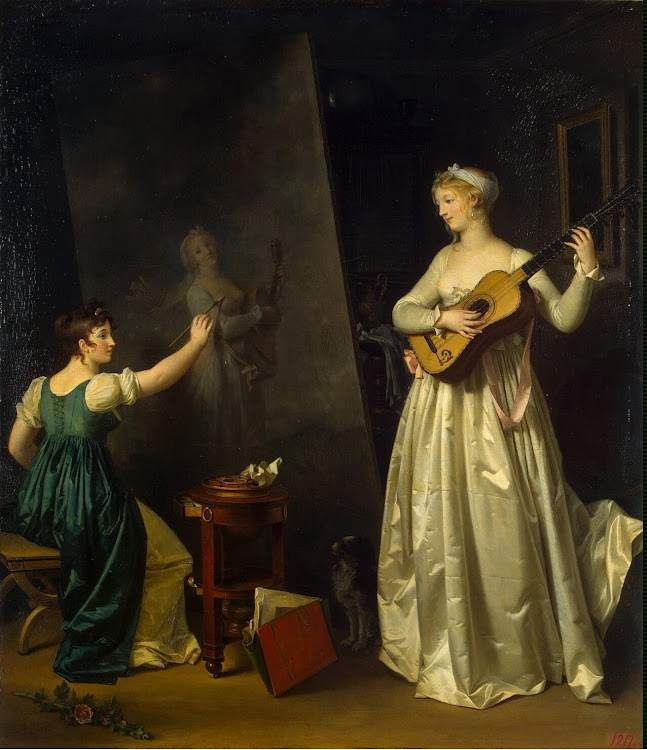 Gerard Marguerite - Artist Painting a Portrait of a Musician