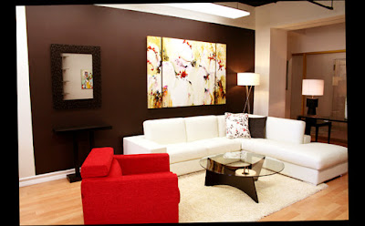 Best Picture for Red Chair for Wall Decorations Living Room With Flower Niche on The Wall