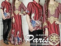 baju couple Paris Marun 180.000 Matt batik sutra + seruti impor lapis furing .. Cow LD102 PJ70 Cew LD100 PJ138