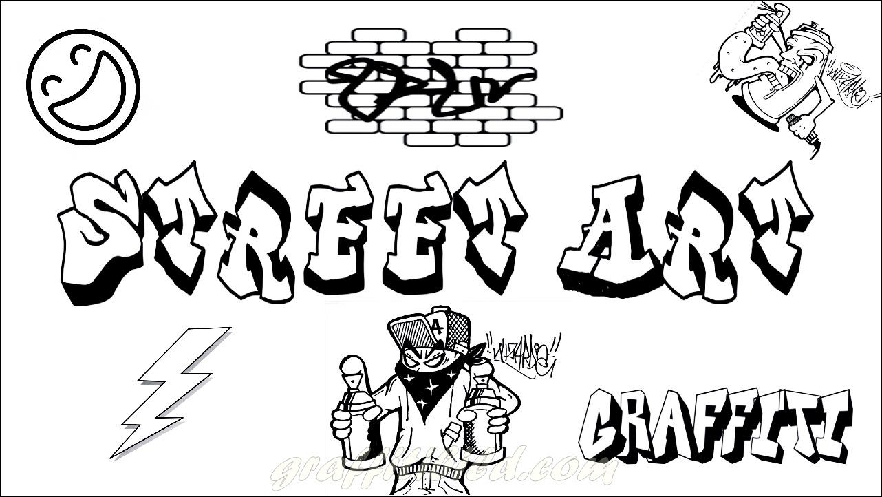 malvorlagen kinder graffiti