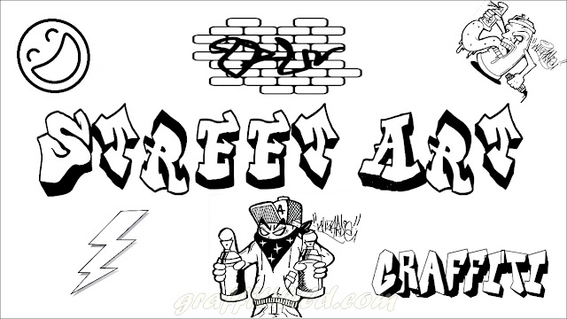 Ausmalbilder graffiti, graffiti street art, ausdrucken, coloring pages