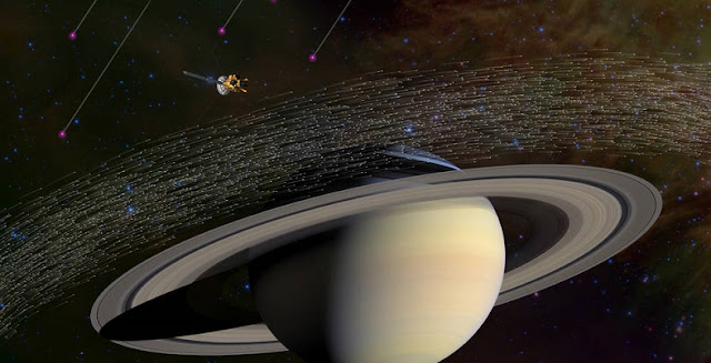 Of the millions of dust grains Cassini has sampled at Saturn, a few dozen appear to have come from beyond our solar system. Scientists believe these special grains have interstellar origins because they moved much faster and in different directions compared to dusty material native to Saturn. Credits: NASA/JPL-Caltech