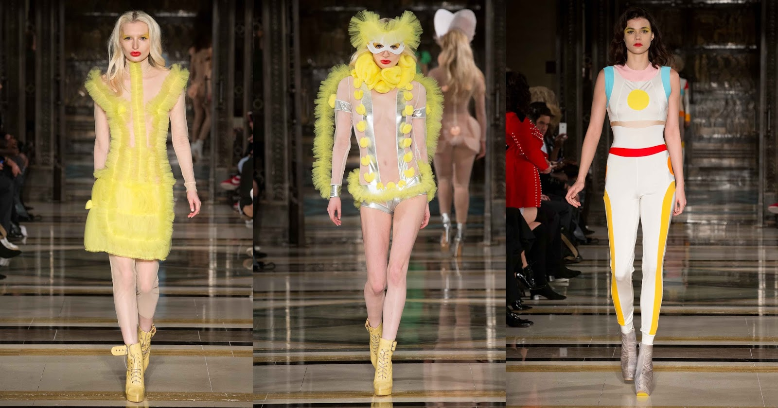 Pam Hogg SS18 London Fashion Week - Yellow