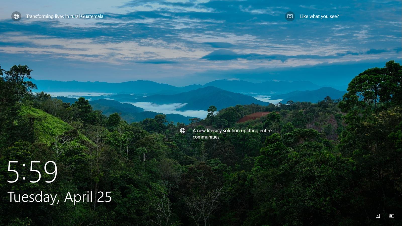 Fantastic Wallpaper Mountain Lock Screen - Colorful_Windows10_Lock_Screen_Screensavers_with_date_and_writings%2B%25282%2529  Image_169663.png