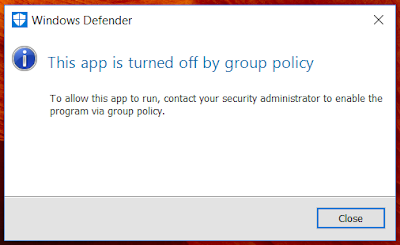 Cara Mengatasi This app is turned off by group policy